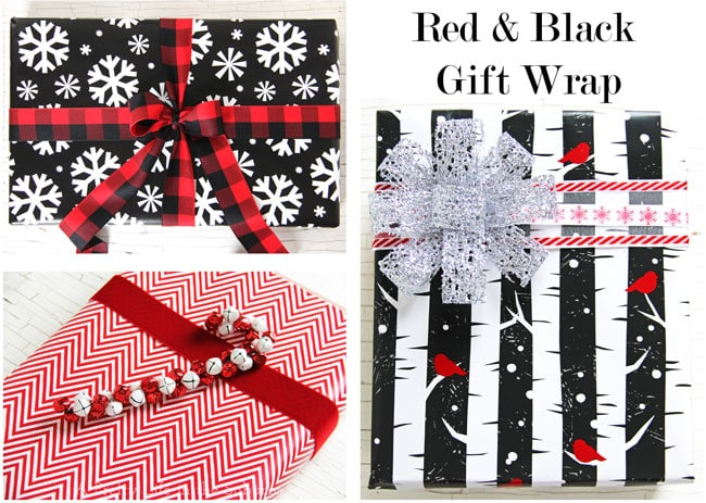 Red and Black Gift Wrap
