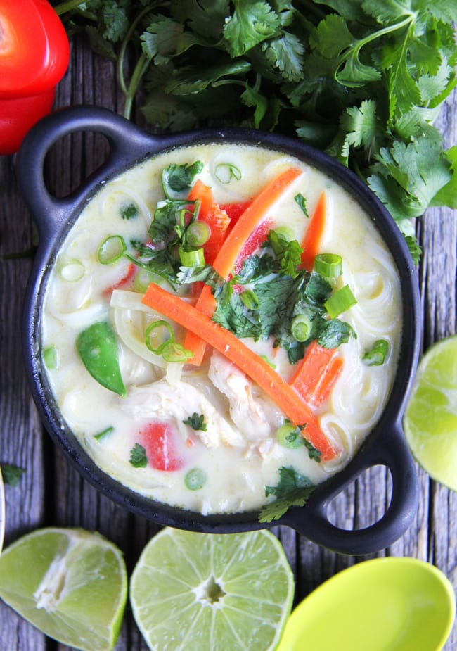 Coconut Curry Noodle Soup {A Pretty Life}