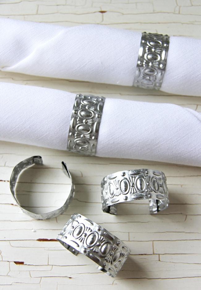 DIY Pressed Tin Napkin Rings