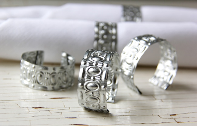 Wedding Napkin Ring 71 Cool DIY Pressed Tin Napkin