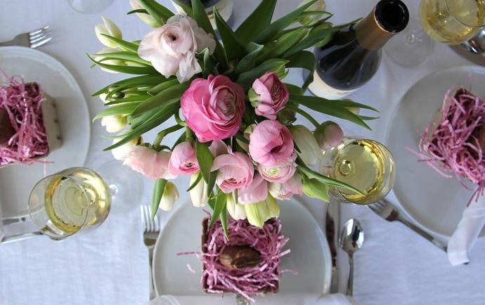 Easter Basket Table Settings