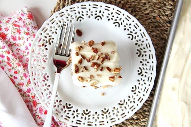 Hummingbird Sheet Cake {A Pretty Life}