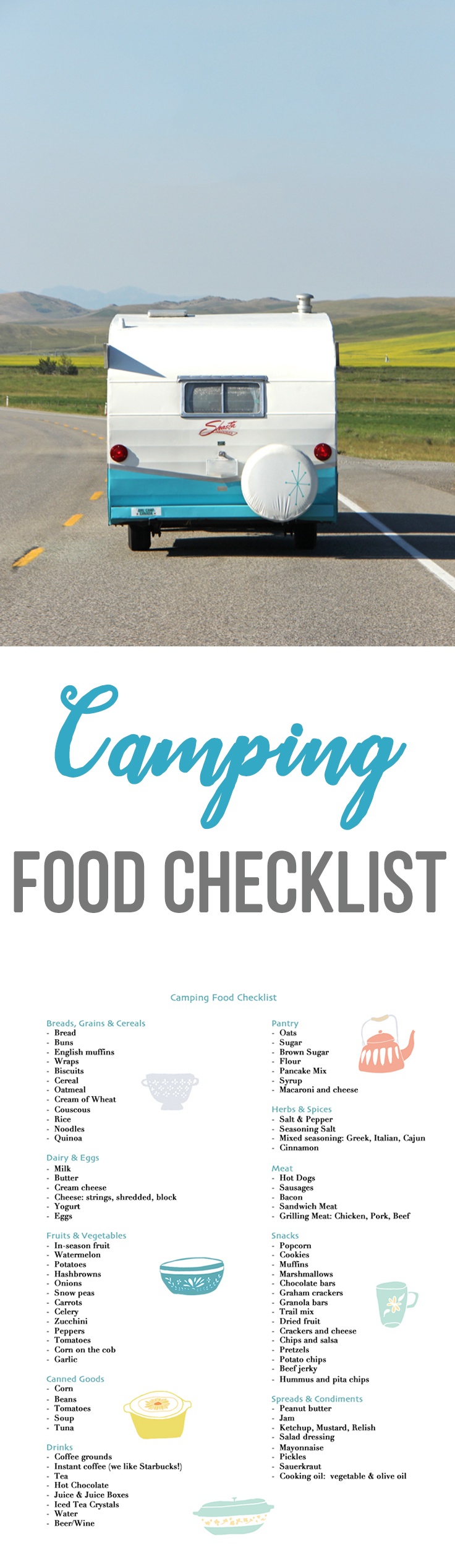 photo relating to Camping Food List Printable called Tenting Foods Record - A Really Daily life Inside The Suburbs