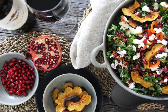 Kale & Roasted Squash Fall Salad