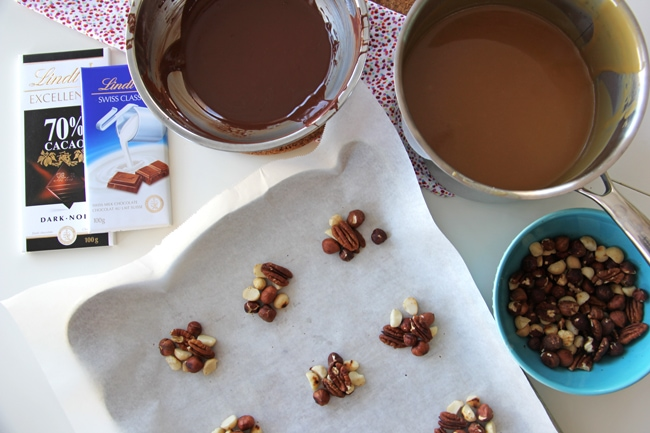 Chocolate Caramel Nut Clusters 5{A Pretty Life}