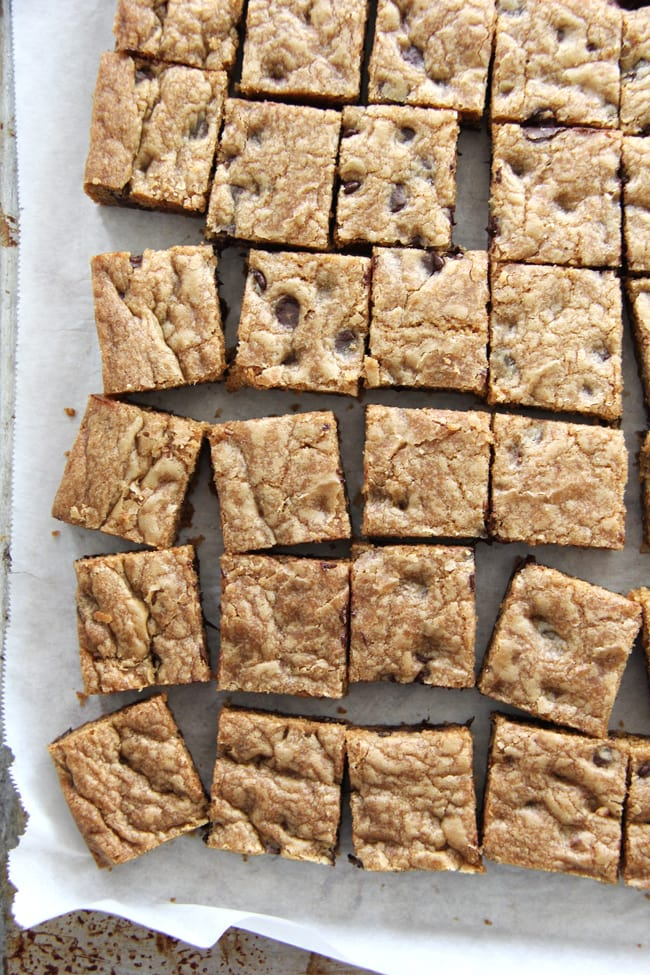 Chocolate Chip Cookie Bars {A Pretty Life}