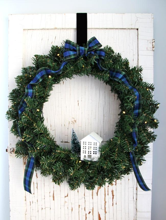 Simple Evergreen Christmas Wreath