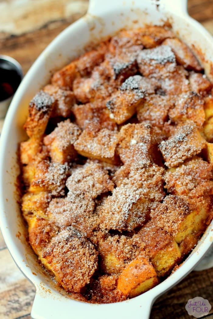 Overnight Pumpkin Pie French Toast