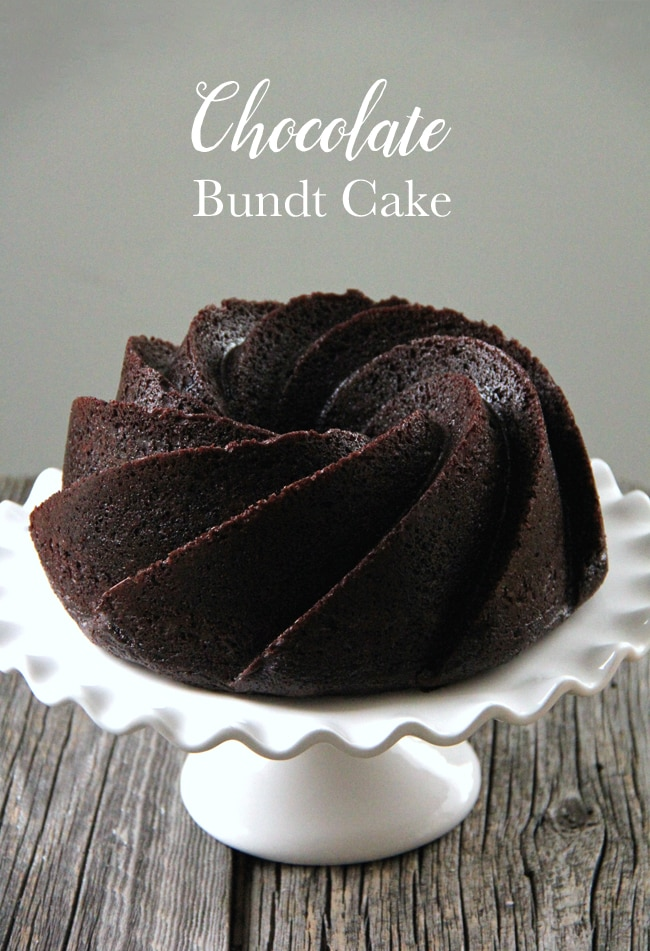Chocolate Bundt Cake {A Pretty Life}