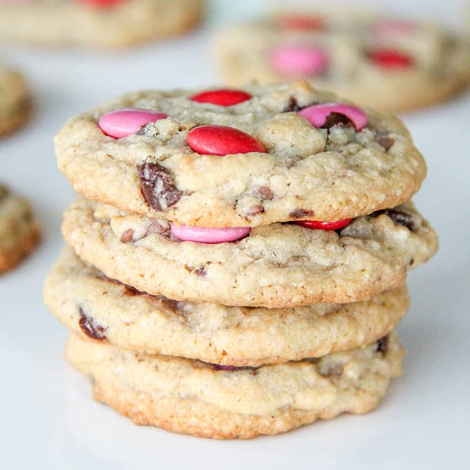 Valentines Day Chocolate Chip Cookies A Pretty Life In The Suburbs