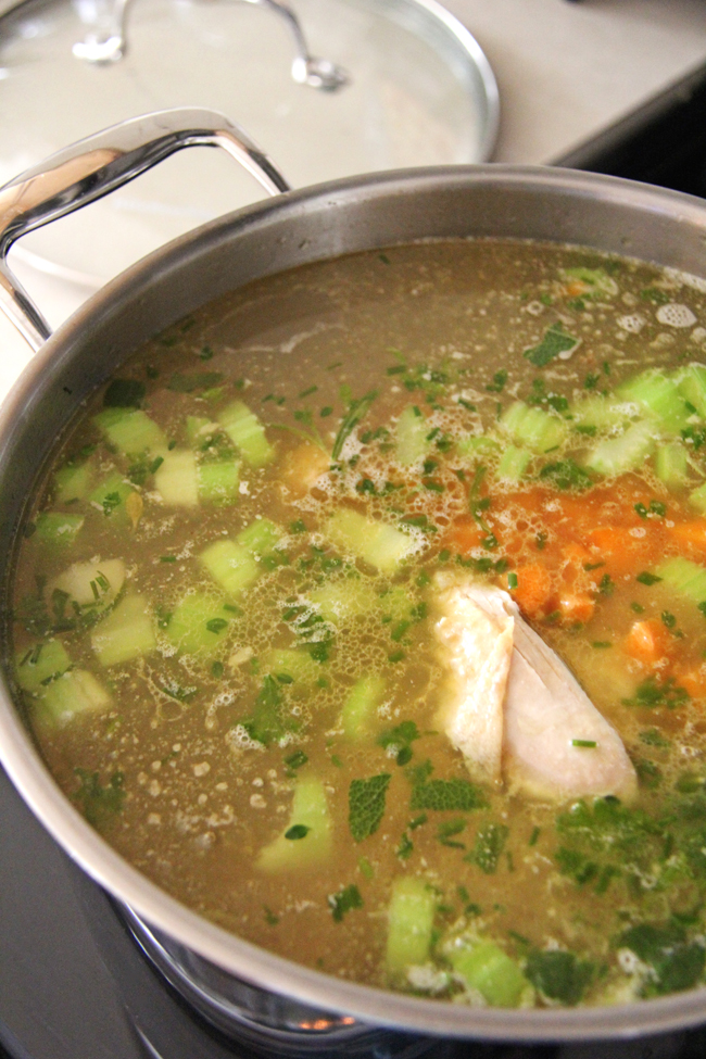 Making and Freezing Homemade Chicken Broth