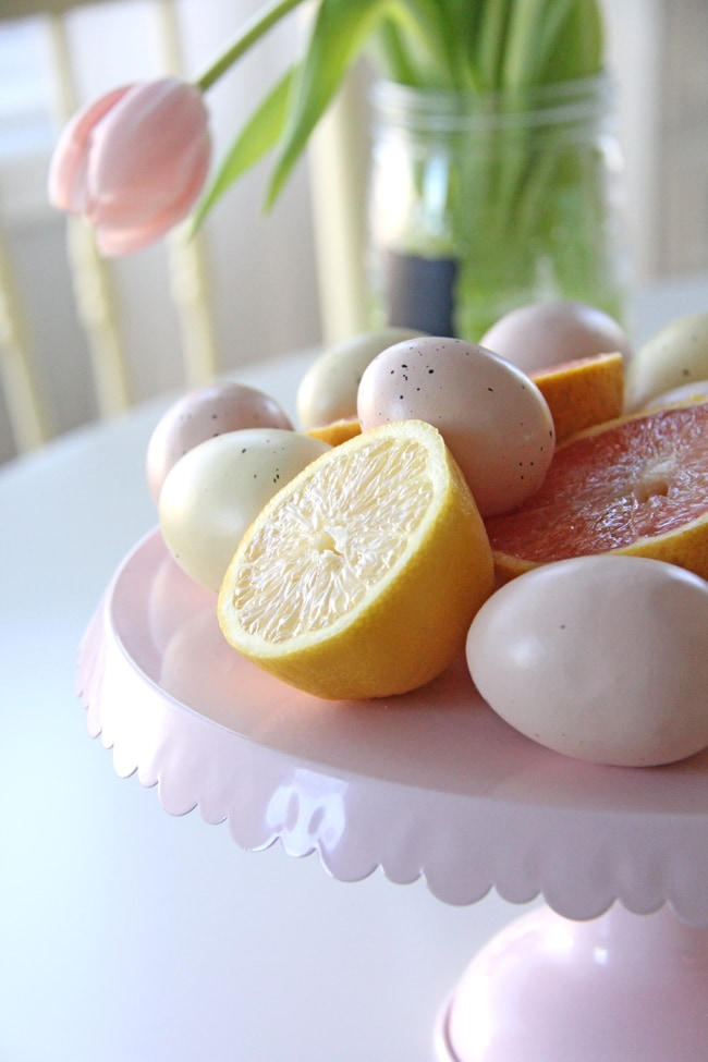 Pink and Yellow Easter Table Setting