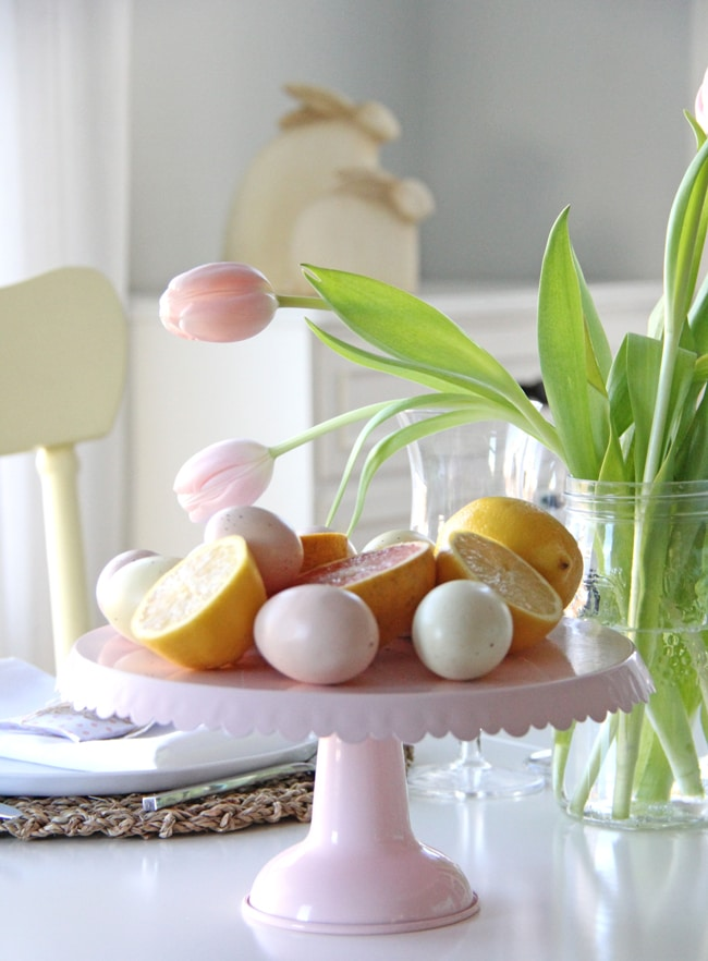 Pink and Yellow Easter Table Setting A Pretty Life7 & Pink and Yellow Easter Table Setting A Pretty Life7 - A Pretty ...