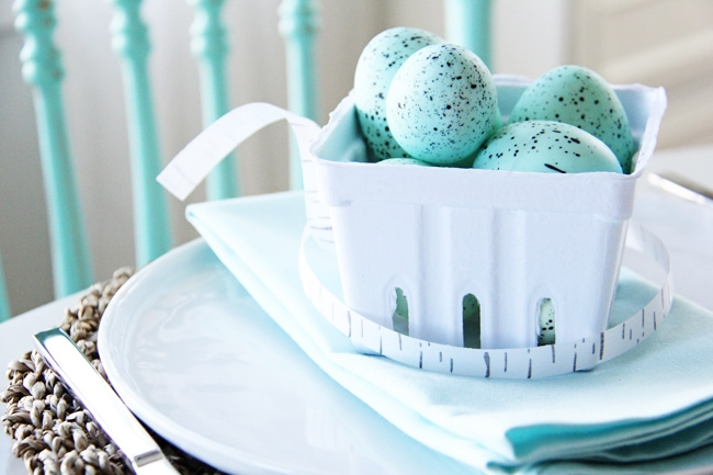 An Easter Table Setting in Robin's Egg Blue
