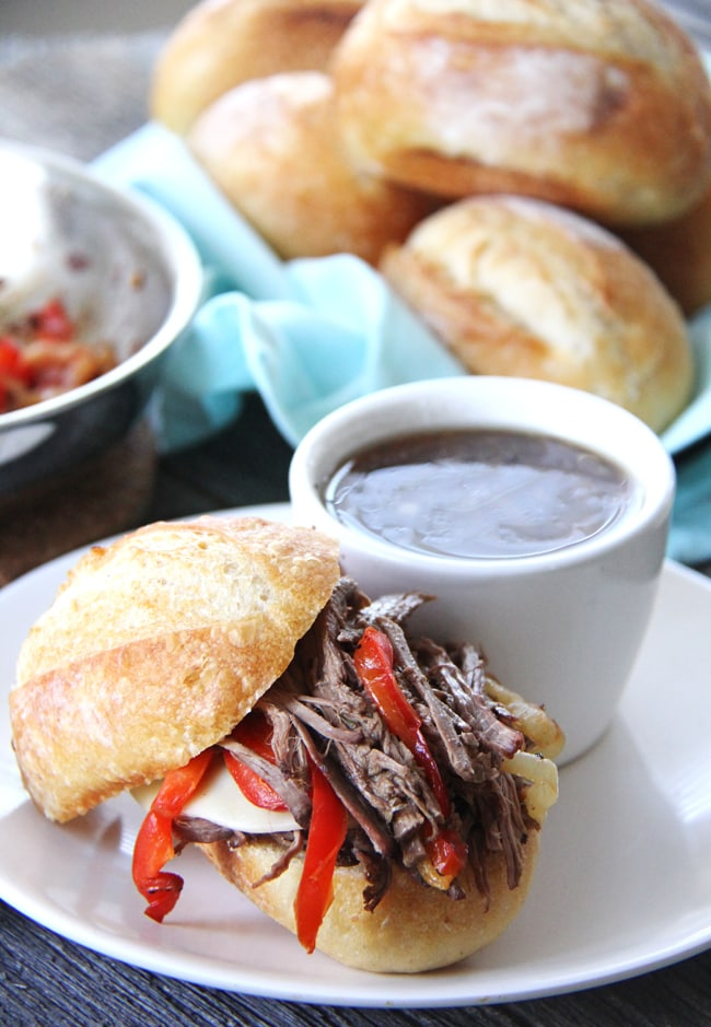 Crockpot Beef Dip Recipe {A Pretty Life}2
