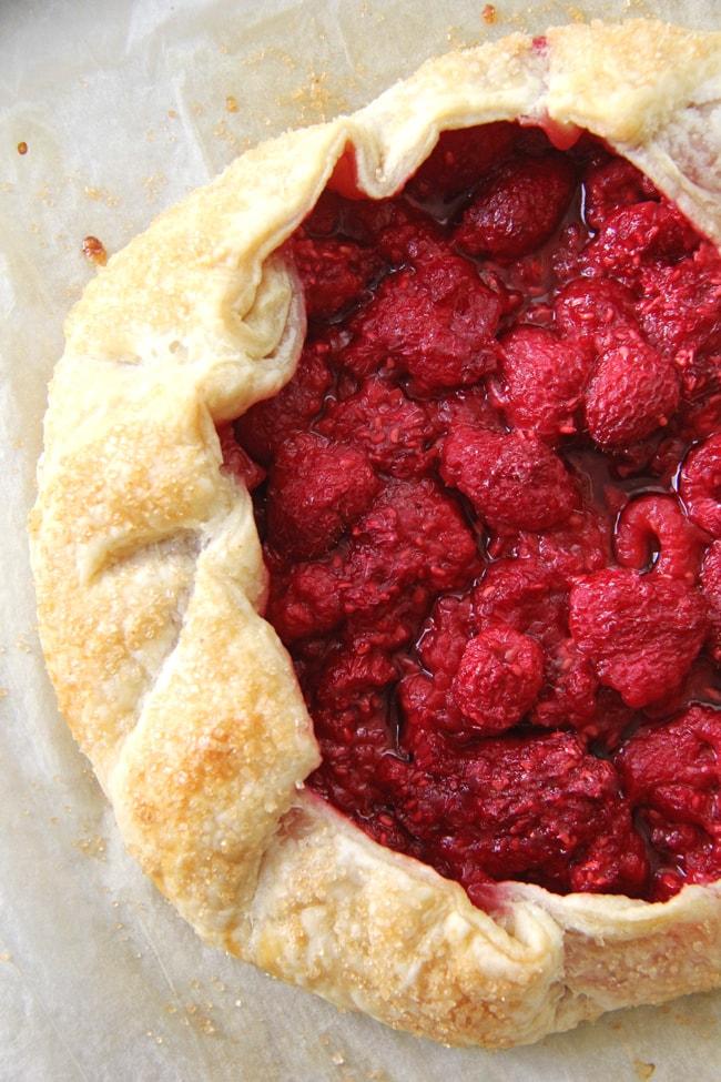 Raspberry Galette {A Pretty Life}