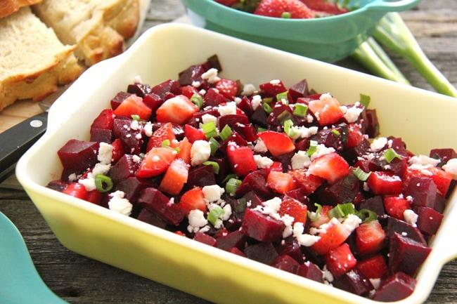 Strawberry Beet Salad {A Pretty Life}