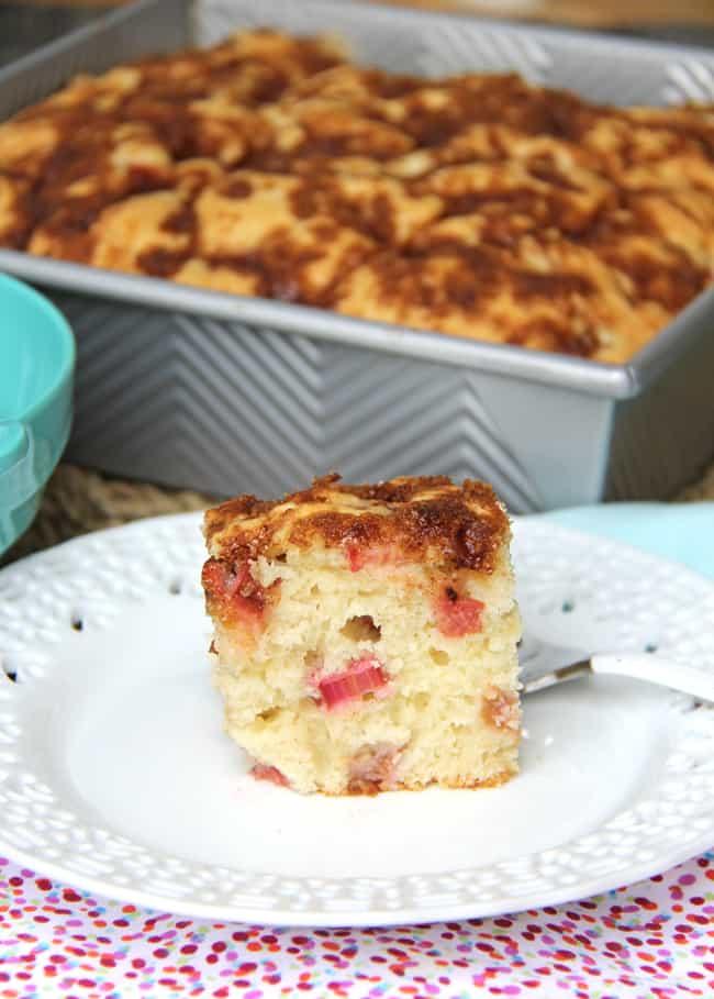 Rhubarb Buttermilk Cake {A Pretty Life}2
