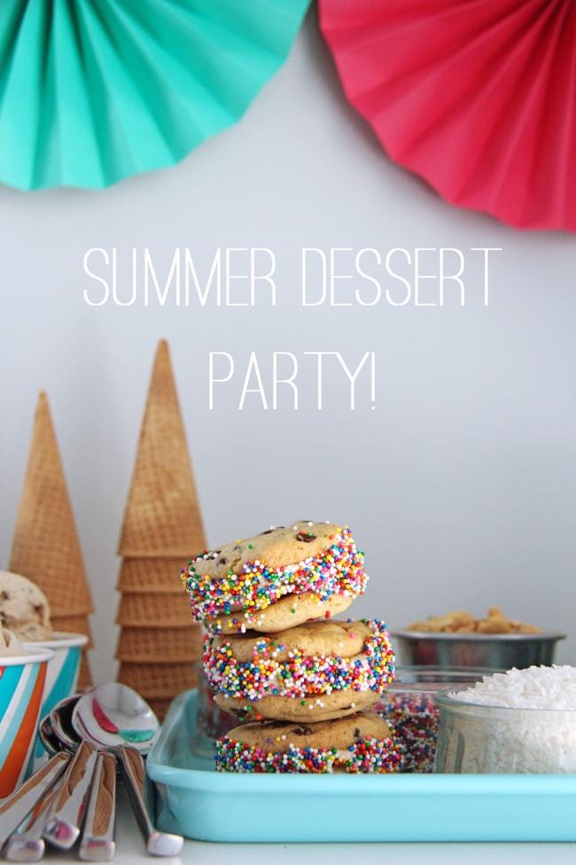 Summer Frozen Dessert Party {A Pretty Life}2