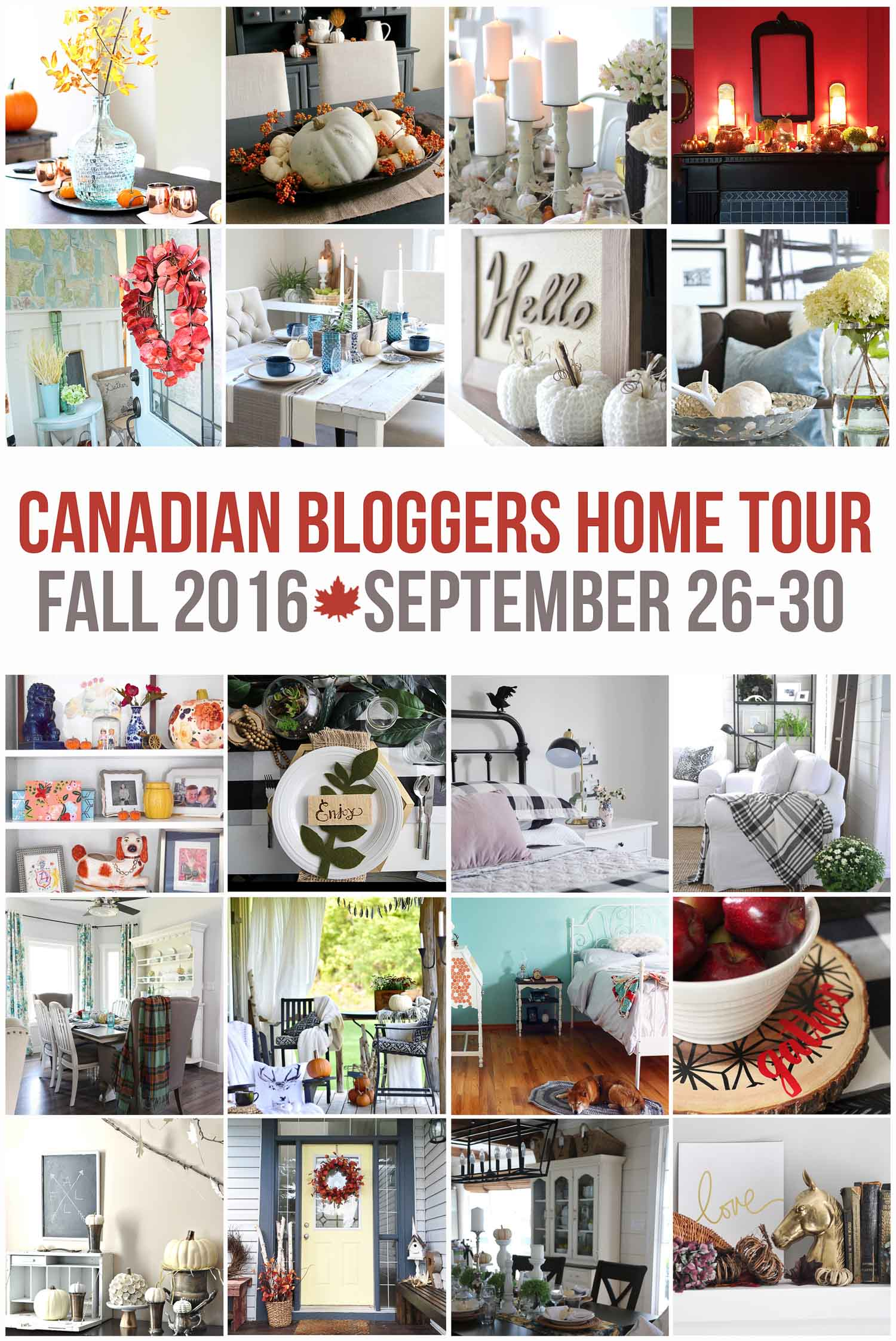 Canadian Bloggers Fall Home Tour