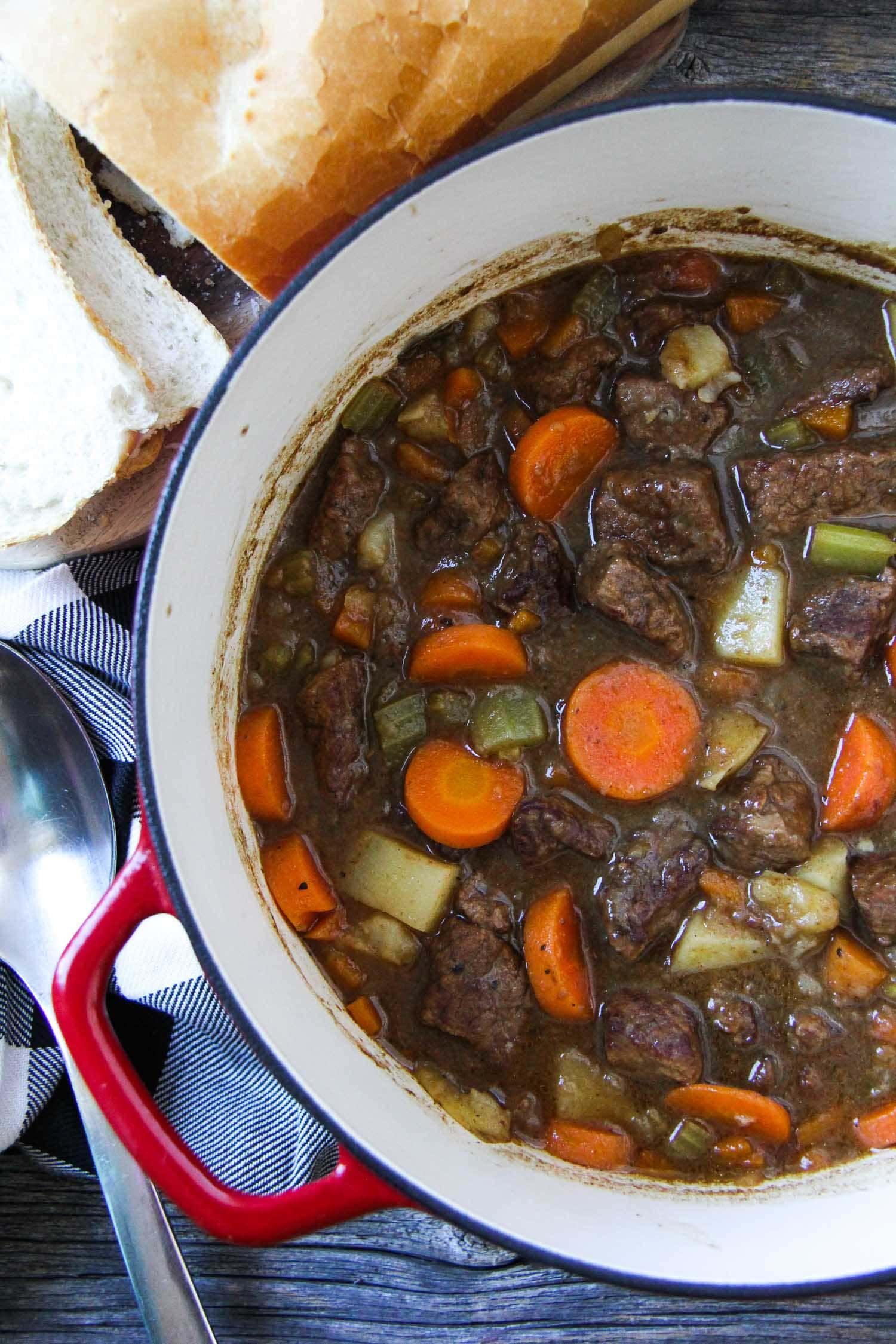 Classic Beef Stew {A Pretty Life}
