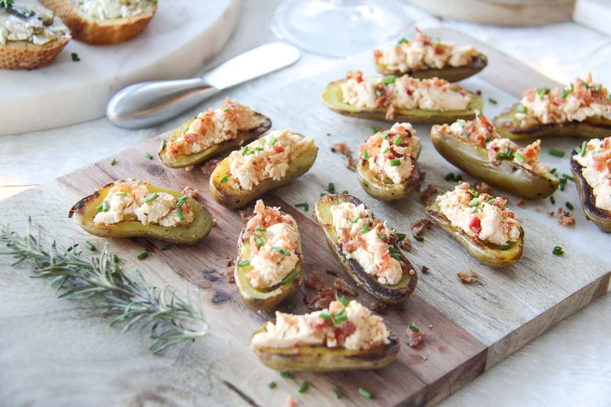 Boursin-Stuffed Potatoes with Red Chili Pepper Boursin {A Pretty Life}
