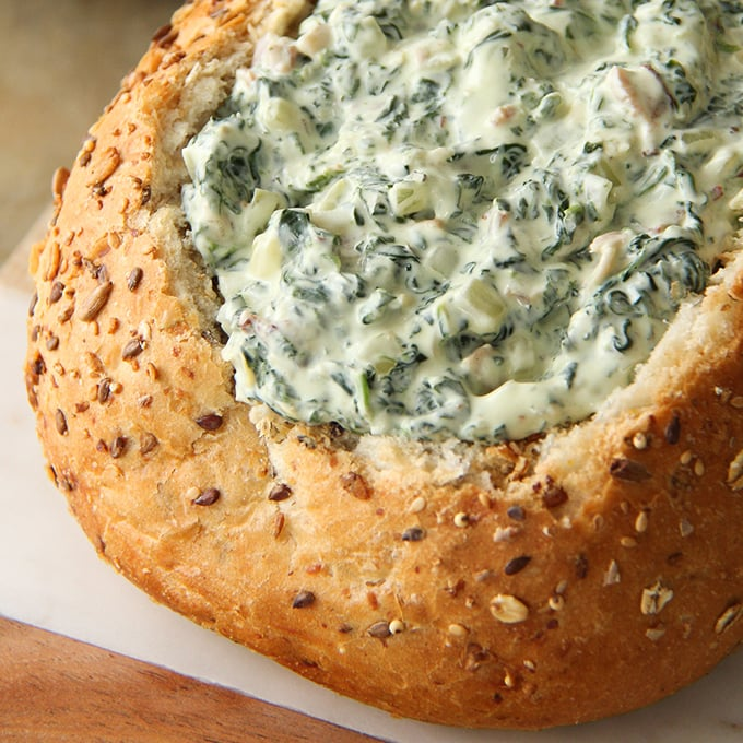 Baked Goat Cheese Spinach Dip