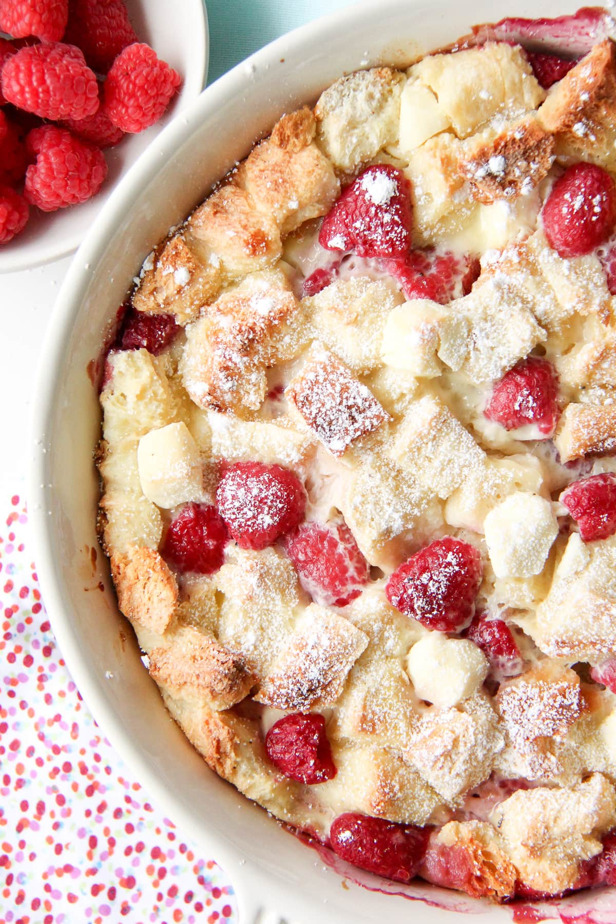 Raspberry Baked French Toast or Bread Pudding