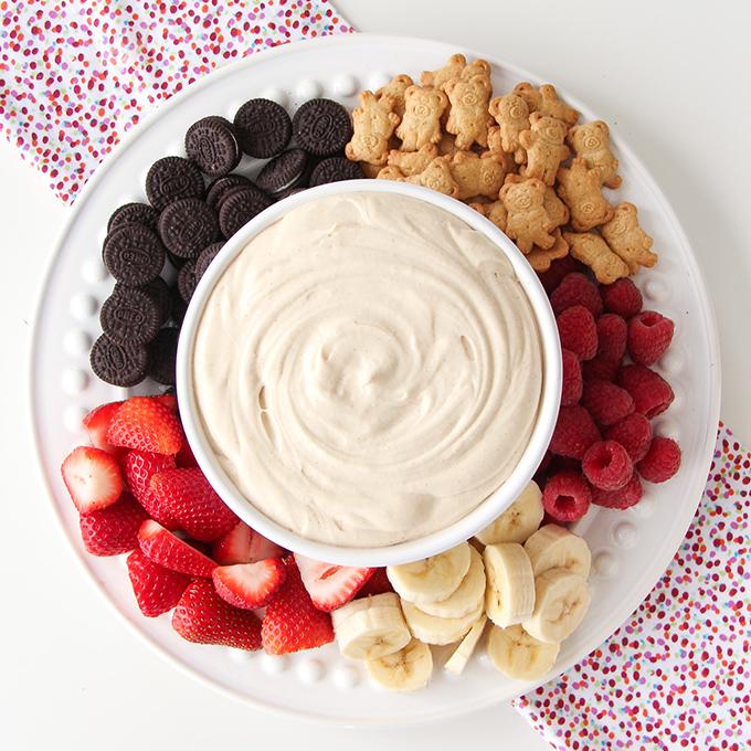 4 Ingredient Peanut Butter Marshmallow Fluff Dip
