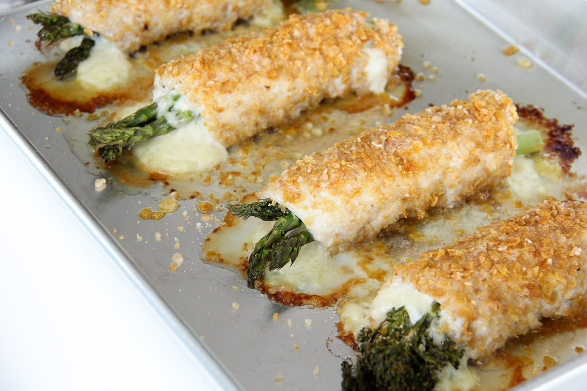 Asparagus and Swiss Cheese Stuffed Turkey Cutlet Recipe