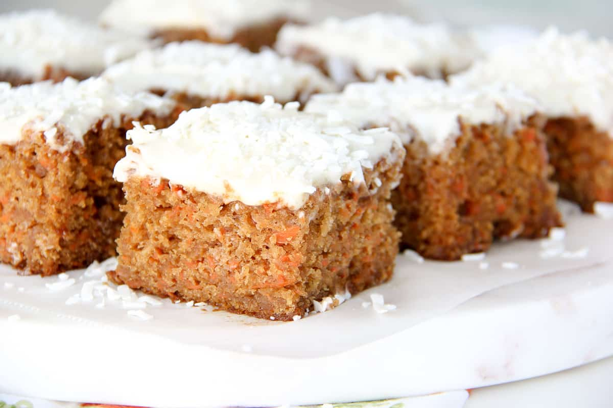 Carrot Cake Sheet Cake Recipe with a Cream Cheese Frosting