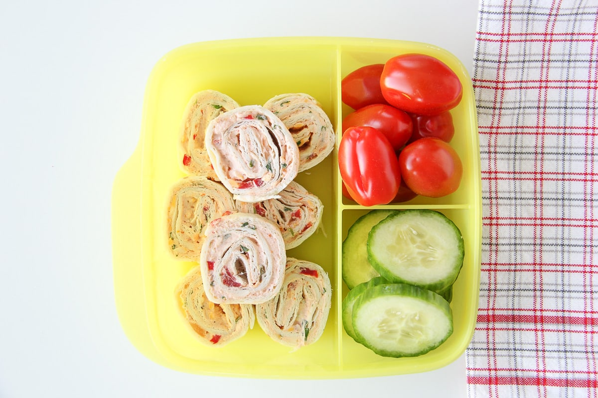Easy Mexican Tortilla Pinwheels for Kids Lunches