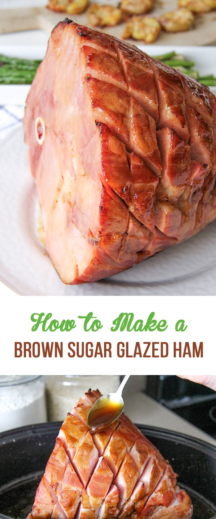 how to cook a fresh ham with brown sugar