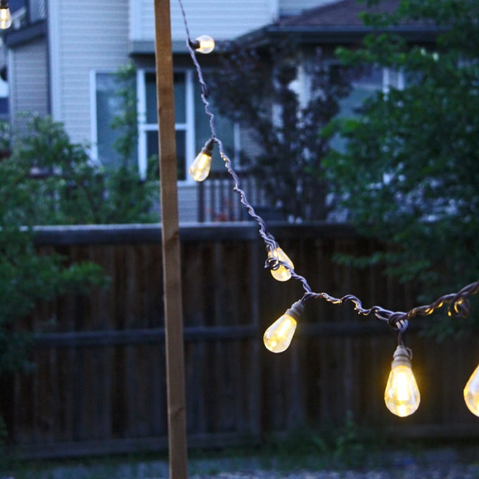 Pretty Indoor String Lights : 7 Ways to String Lights in your Backyard! - A Pretty Life In The Suburbs