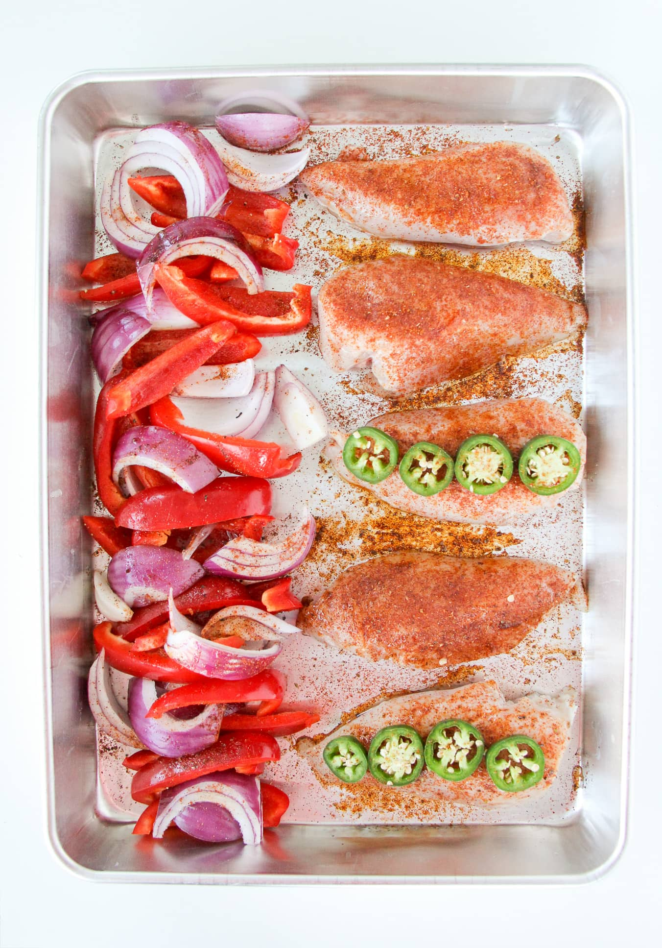 Fajita Chicken Sheet Pan Dinner