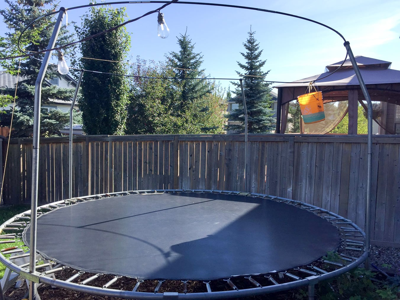 Surprising our kids with a springfree trampoline a for Springfree trampoline