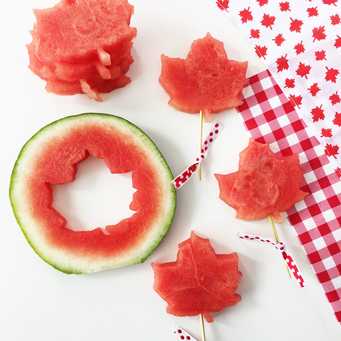Maple Leaf Shaped Watermelon