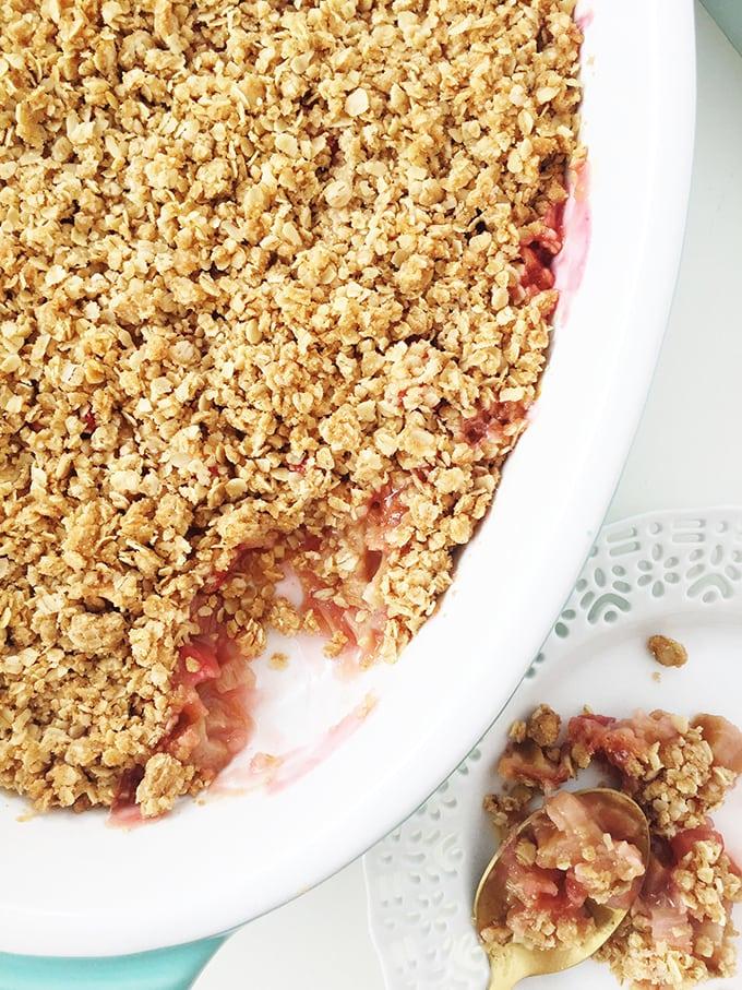 Rhubarb Crisp Dessert