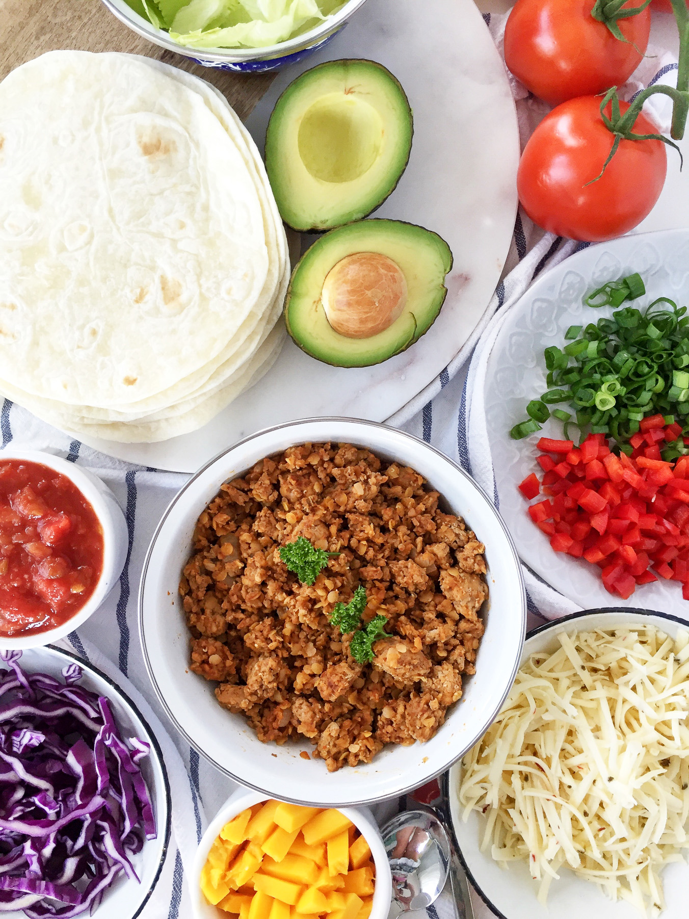 Turkey Lentil Tacos