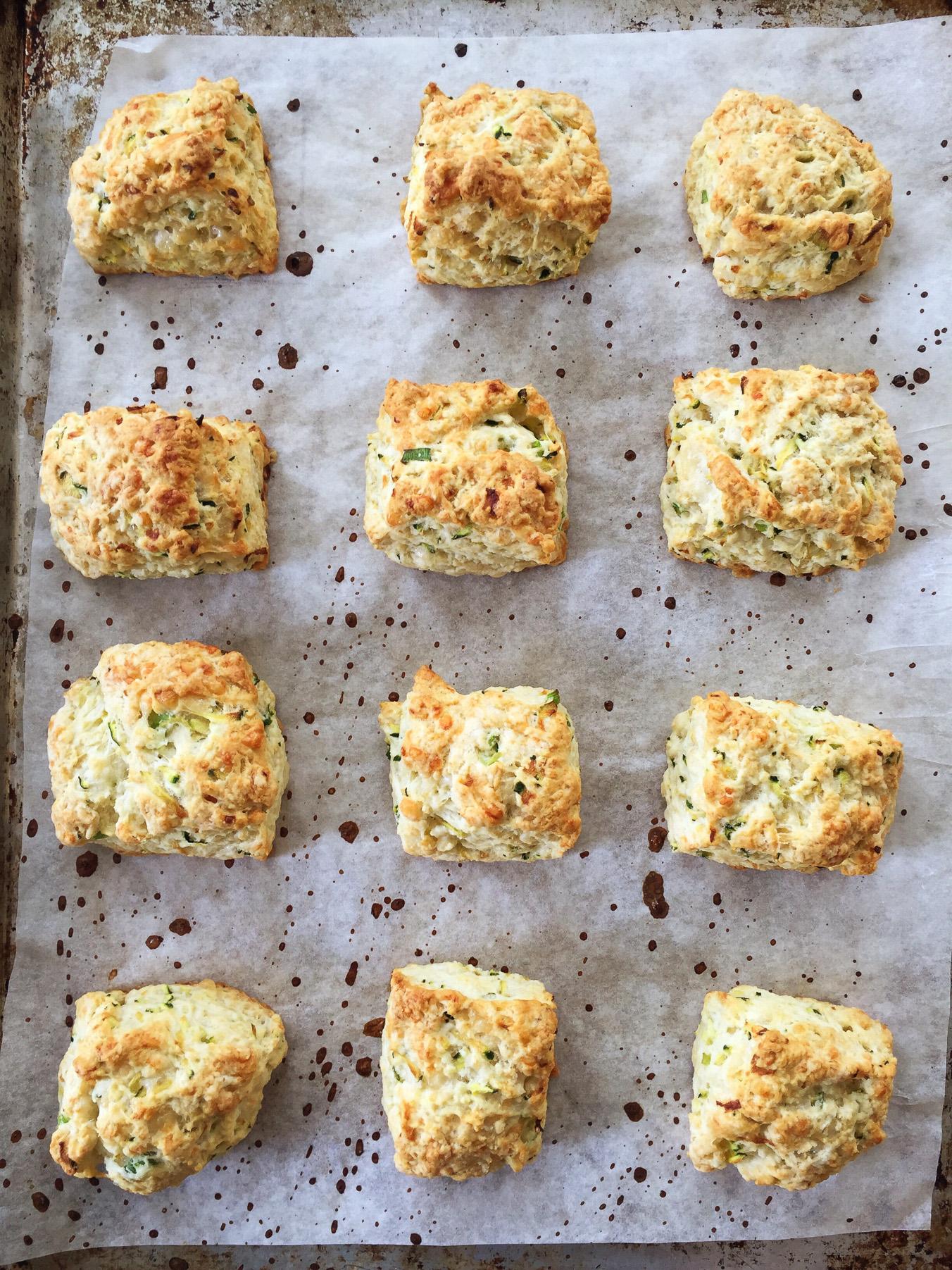 Zucchini Cheddar Biscuits