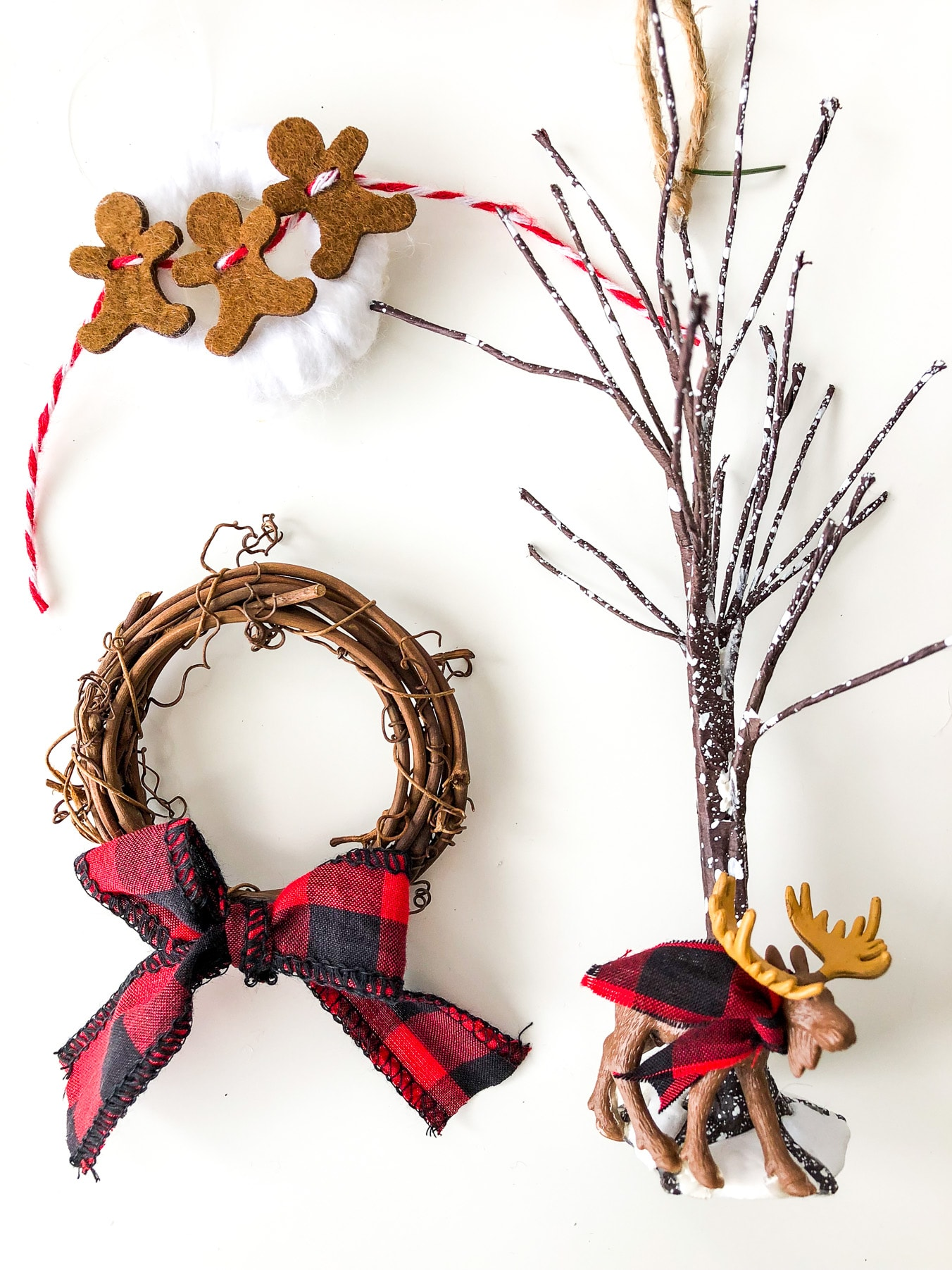 Buffalo Plaid Christmas Ornaments