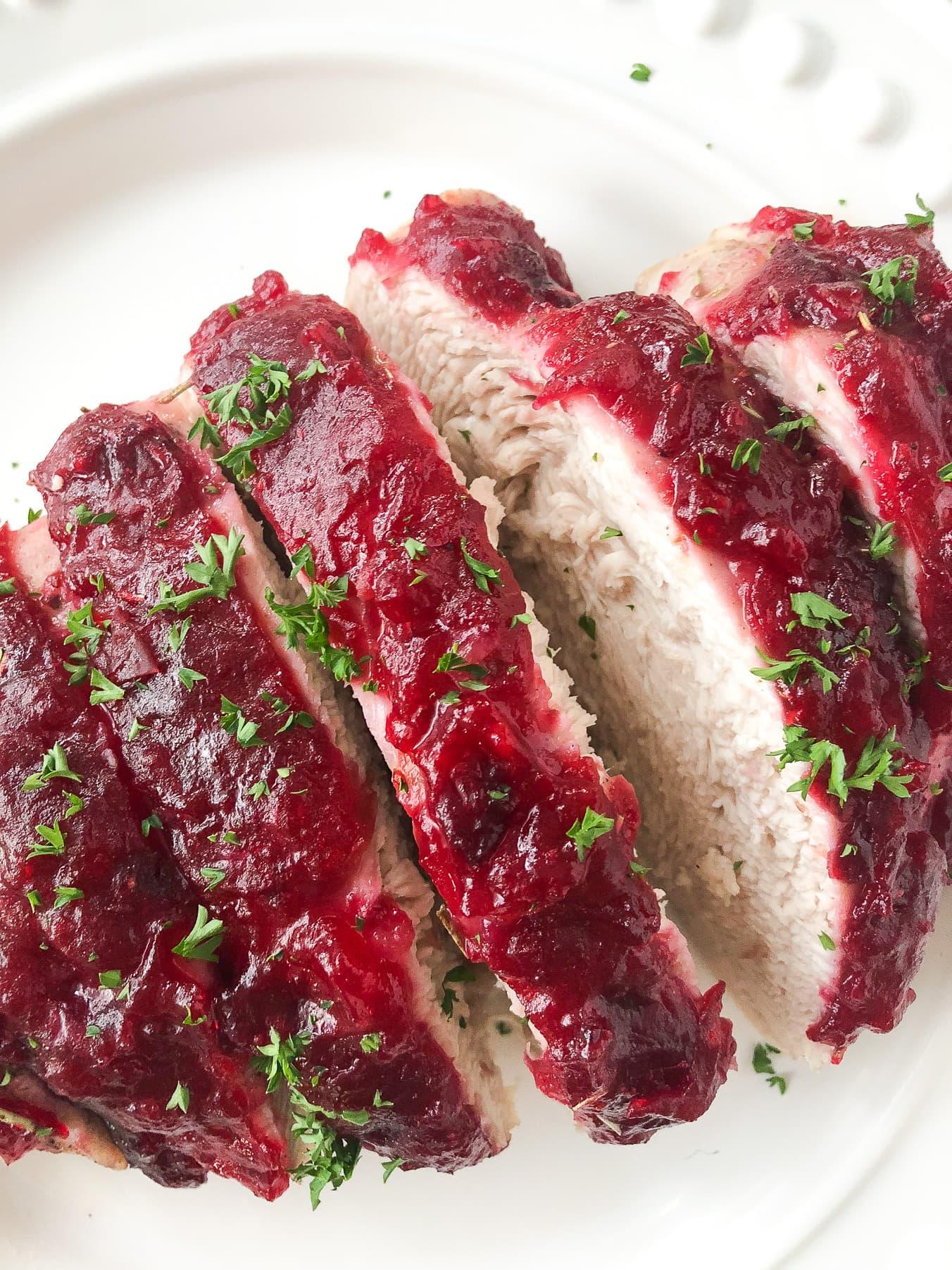 Cranberry Glazed Turkey Breast