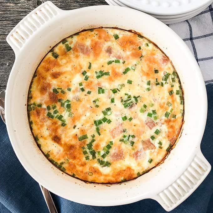 Garden Vegetable Crustless Quiche: Easy Ham And Cheese Crustless Quiche