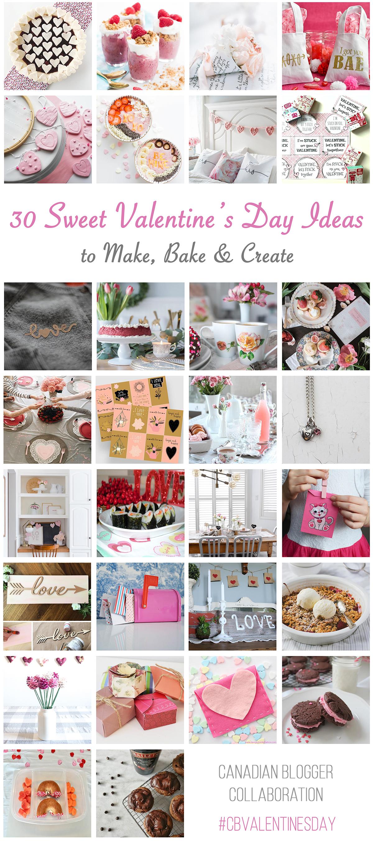 30 Valentine's Day Ideas to Make, Bake & Create