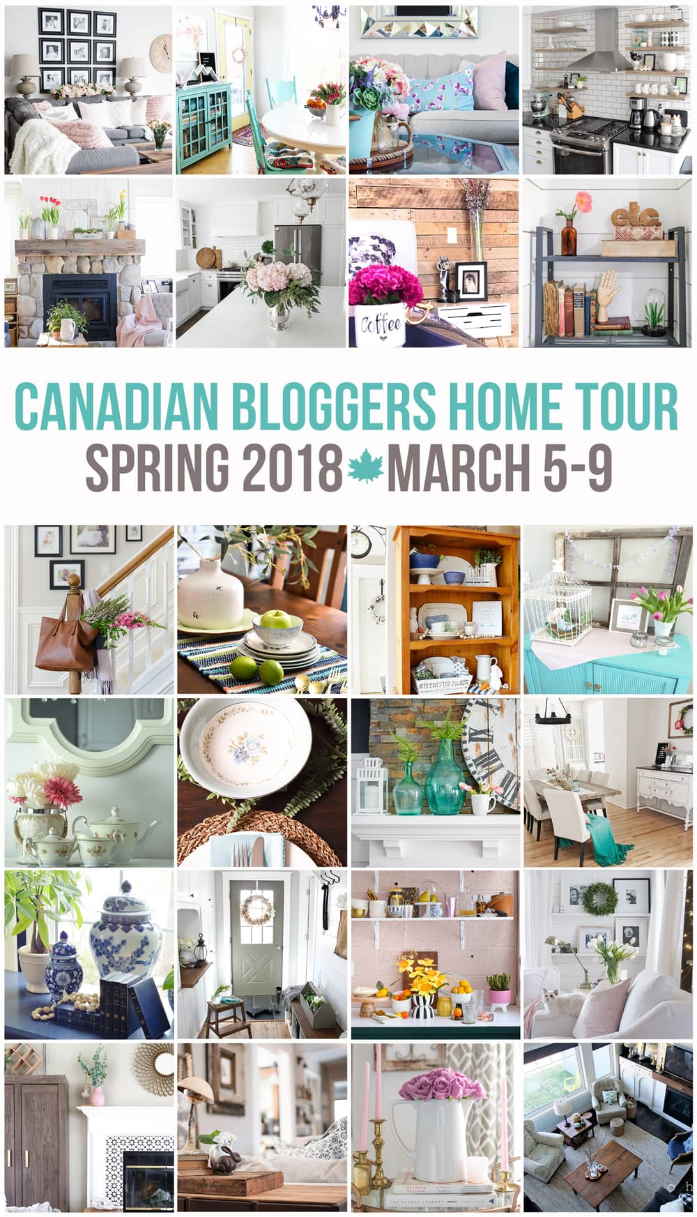 Canadian Bloggers Spring Home Tours