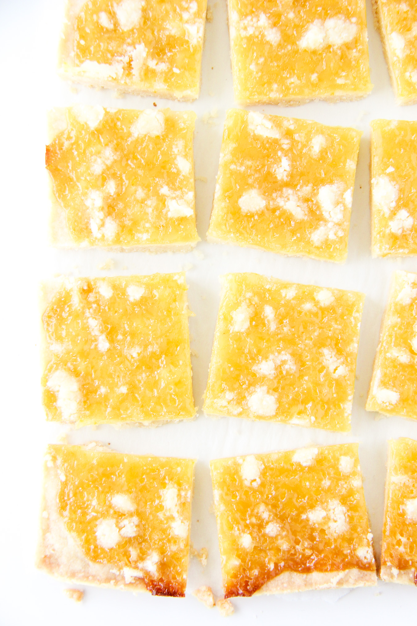 Lemon Shortbread Squares with Homemade Lemon Curd
