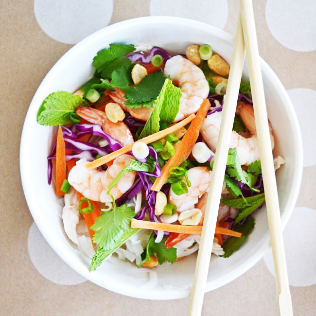 Summer Roll Salad with Peanut Dressing
