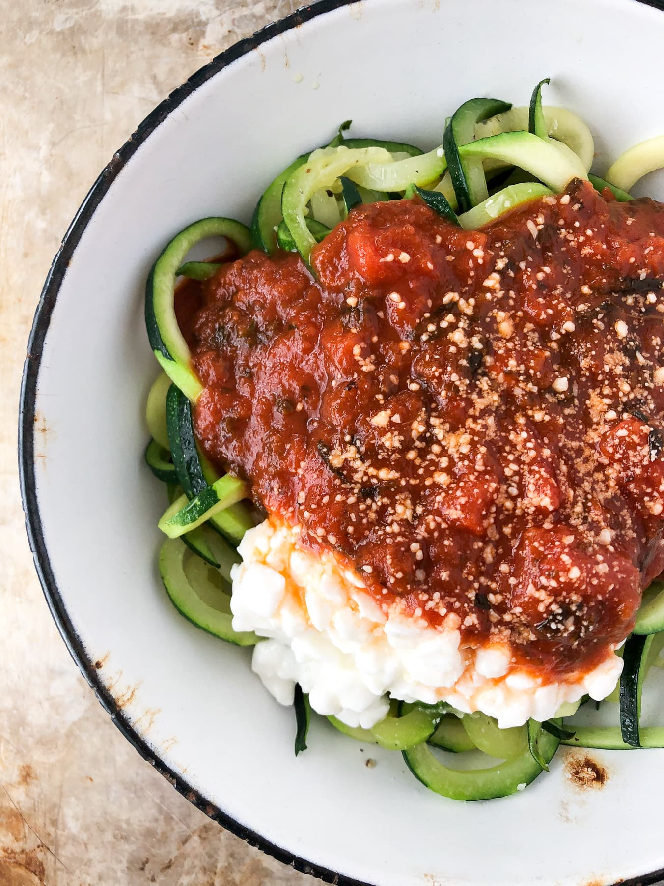 Zoodle Noodle Spaghetti Dinner Bowl