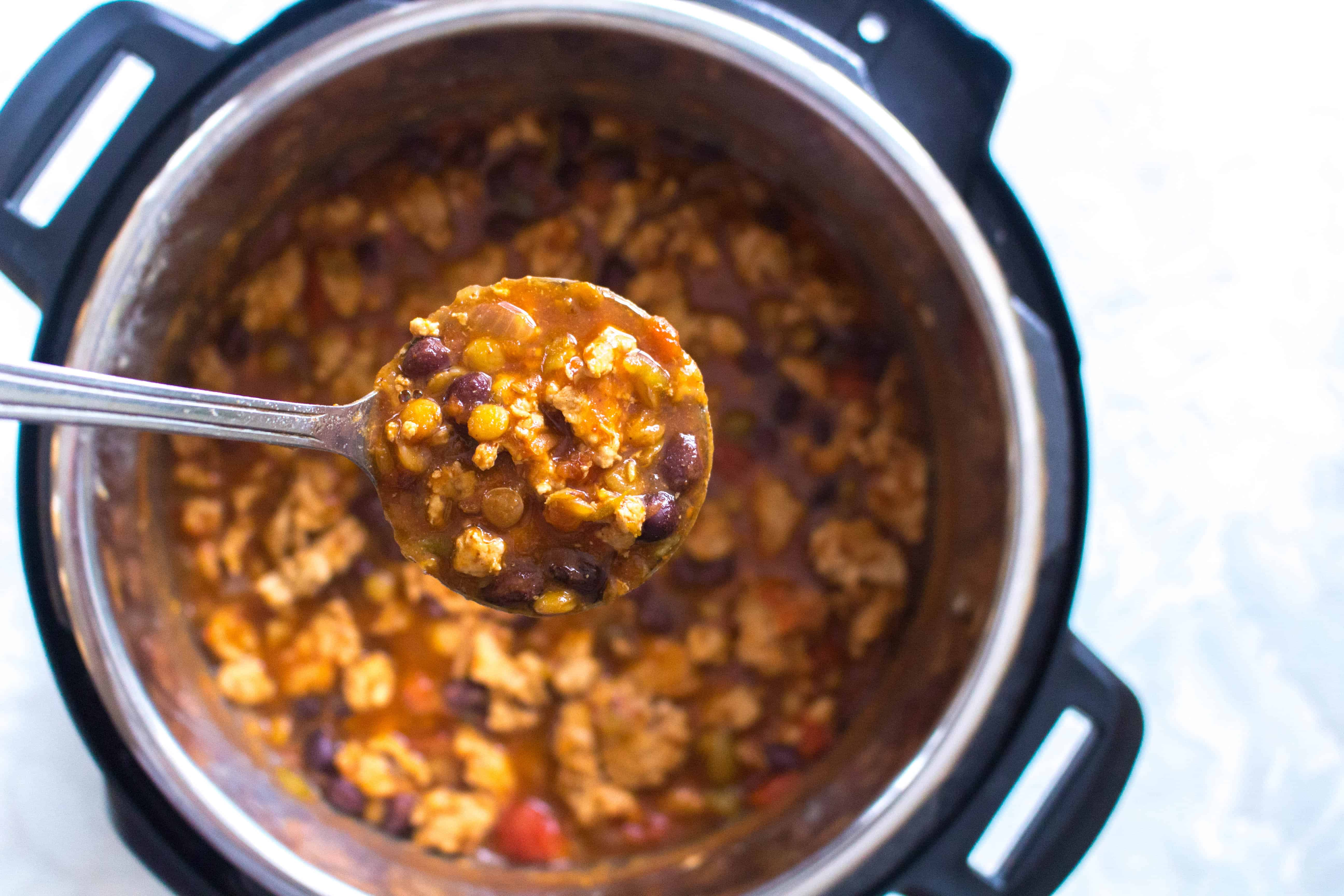 Instant Pot Turkey and Lentil Chili