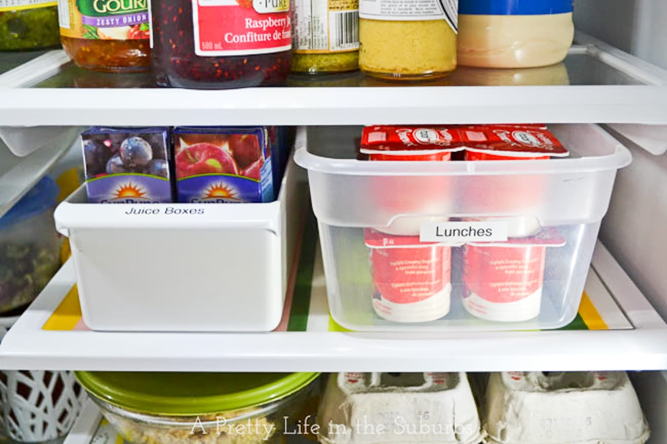 Organize the Fridge for School Lunches